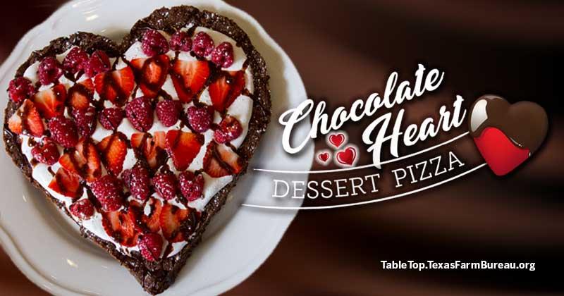 Chocolate-Heart-Dessert-Pizza