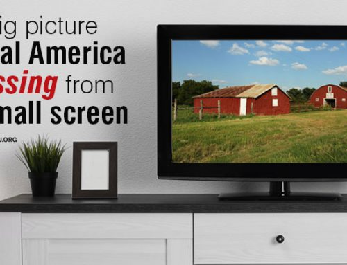 Why should agriculture be on the small screen?