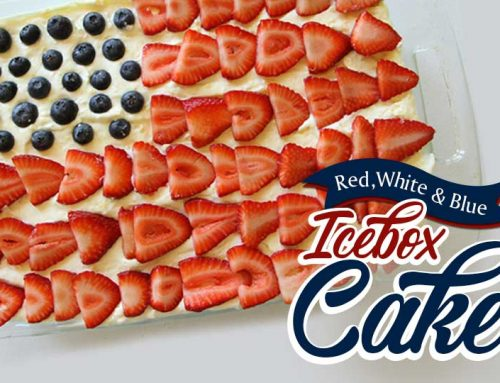 Red, White & Blue Icebox Cake