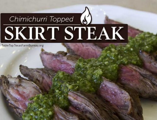 Chimichurri Topped Skirt Steak