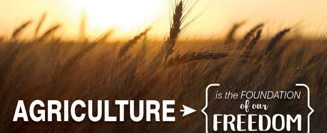 America was founded on agriculture