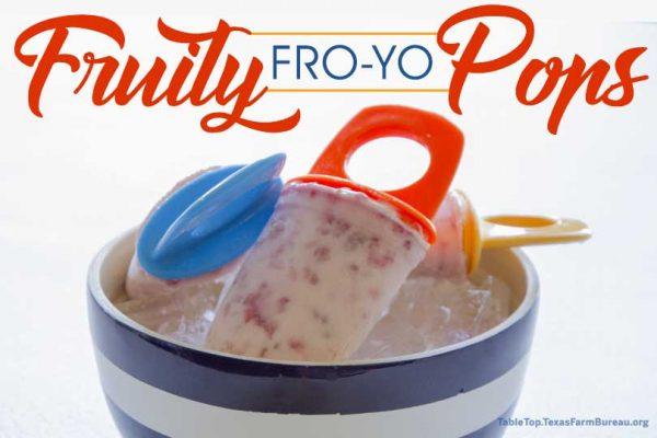 Fruity Fro-Yo Pops
