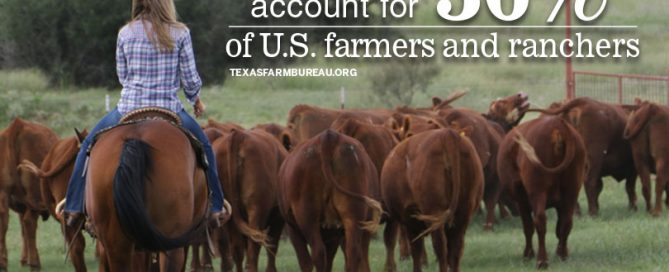 Women in agriculture. More young farmers and ranchers. They're growing trends that will play a critical role in agriculture's future, Justin Walker says on Texas Table Top.