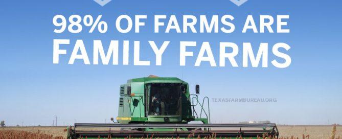 Family farms. Family values. 98% of farms are family farms, not factory farms.