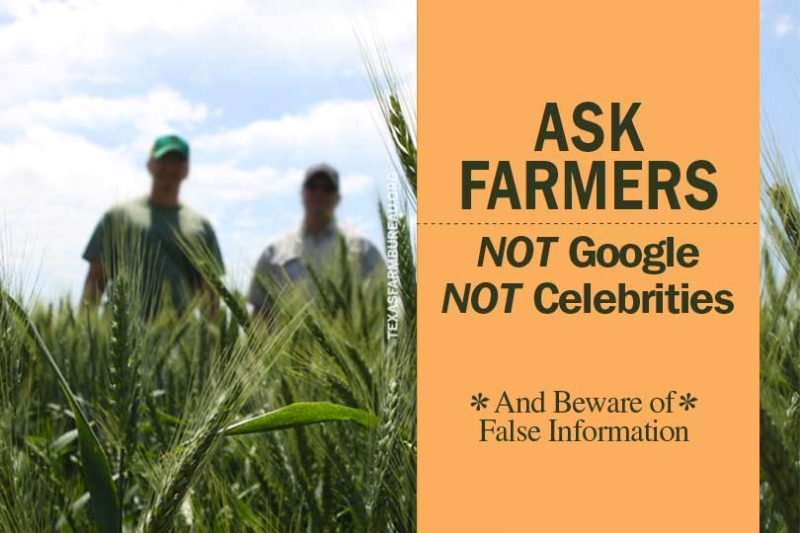 We get it. Your first instinct is to google. So after you've googled, fact check that information you find with a farmer or rancher. Learn more farming truths on Texas Table Top.