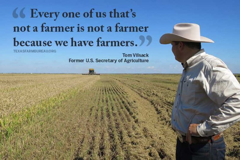 Doctors. Lawyers. Actors. We can be anything, because we have the freedom of not having to farm. Julie Tomascik explains on Texas Table Top.