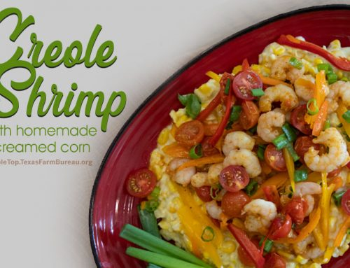 Creole shrimp with homemade creamed corn