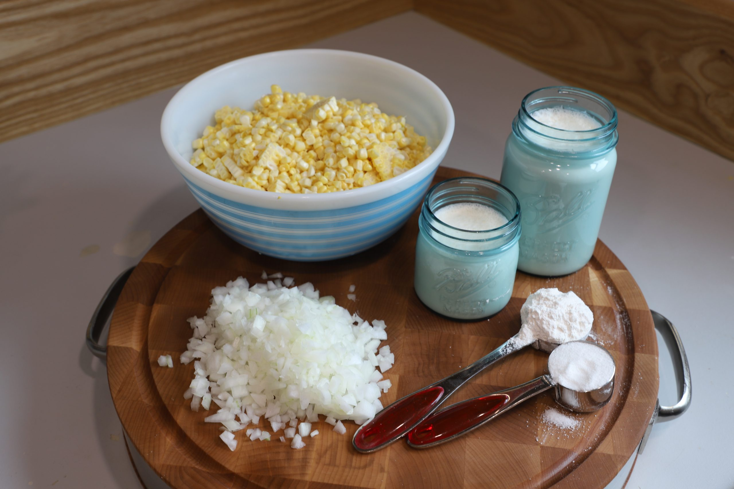 Ingredients for homemade creamed corn