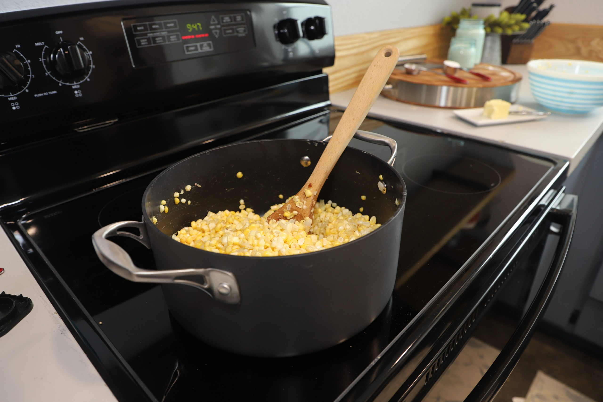 cooking creamed corn on stovetop