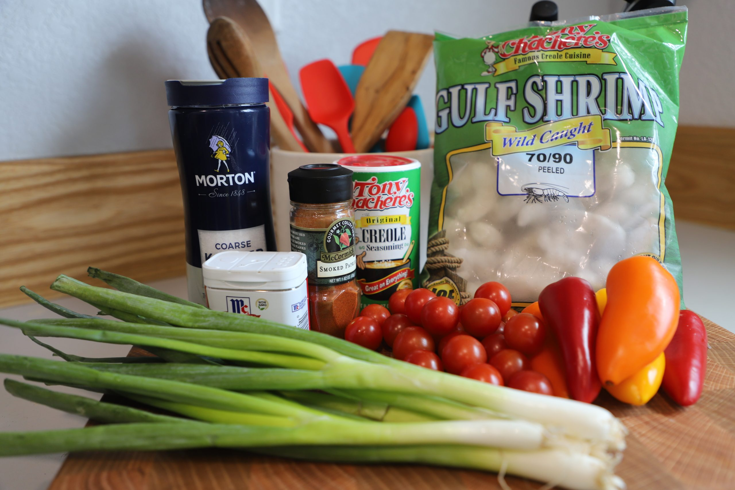 Ingredients for creole shrimp