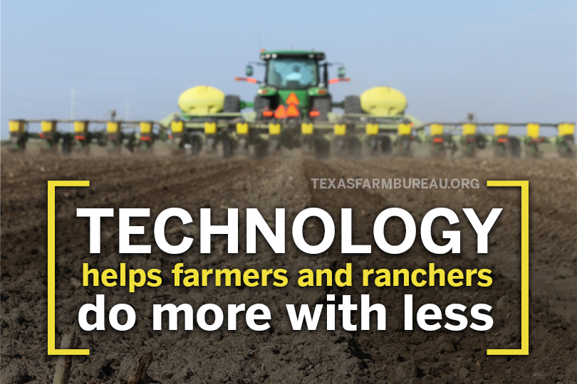 Today's farmers and ranchers grow more while using less. And use technology to help.