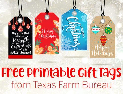 Get 4 free printable gift tags