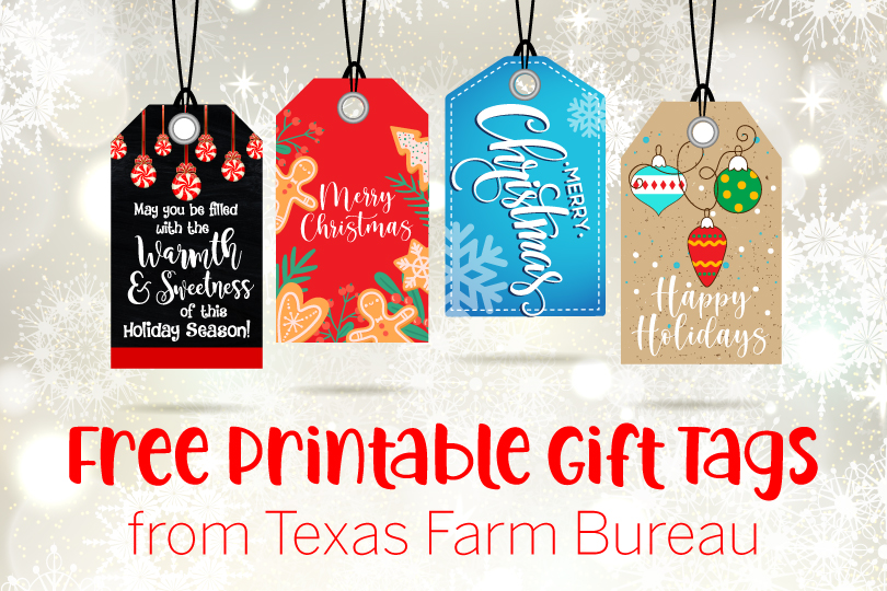 Dress up your gifts with our free printable gift tags. Download them from Texas Table Top: https://txfb.us/TTT121820